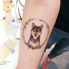 This is the one. I want my doggy memorial tattoo to look just like this. It looks like a soft, dainty portrait of my sweet boy #DogTattooIdeas