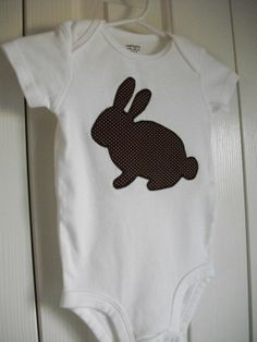 Bunny applizierten Strampler Größe 6 Monate auf von AvysSewRight, $13.00