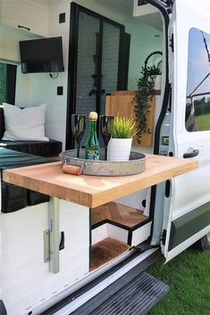 Ford Transit Camper Conversion, Van Conversion Interior, Hiace Camper, Drying Room, Van Home, Van Design, Van Living, Camper Makeover, Butcher Block Countertops