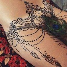 tatuajes en el vientre bajo para mujeres ideas
