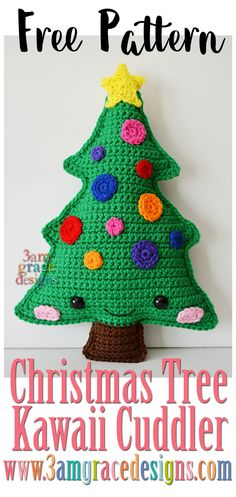 Christmas Tree Kawaii Cuddler free crochet pattern ragdoll