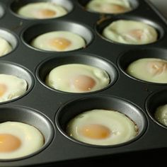 Christmas morning brunch here we come.Cook eggs in muffin tin! For making a big batch of Egg McMuffin-style sandwiches suitable for freezing. Or for a large brunch party! Breakfast Desayunos, Breakfast Dishes, Breakfast Recipes, Breakfast Sandwiches, Egg Sandwiches, Perfect Breakfast, Breakfast Ideas, Sandwich Recipes, Homemade Breakfast