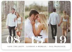 """""""Trio"""" - Customizable Save The Date Petite Cards in Black or White by Kimberly FitzSimons. - Save the Date Petite Cards by Minted Engagement Photo Poses, Engagement Pictures, Wedding Pictures, Wedding Engagement, Country Engagement, Outdoor Engagement Photos, Wedding Invitations With Pictures, Engagement Parties, Engagement Decorations"""