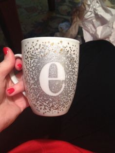 My Attempt At A Decorated Coffee Mug Used Oil Based Shimmer Sharpie On 1 Christmas