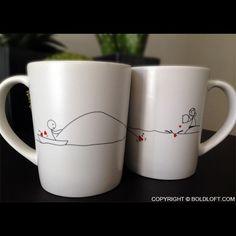 Catch My Heart™ Couple Coffee Mugs