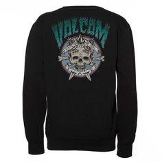 VOLCOM Youth Up Crew Fleece black sweat-shirt enfants 45,00 € #volcom #skate #skateboard #skateboarding #streetshop #skateshop @playskateshop
