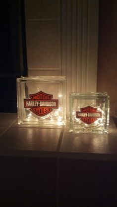 Harley Glass Block Lights