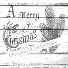 Merry Christmas to you Pine cone Instant by GraphicMarketplace