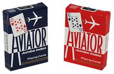 Aviator Playing Cards - Poker Jumbo Index