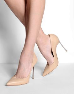CASADEI BLADE METAL HEEL NUDE BEIGE HIGH HEEL STILETTO PUMP COURT SHOES RRP$650 #Casadei #Stilettos