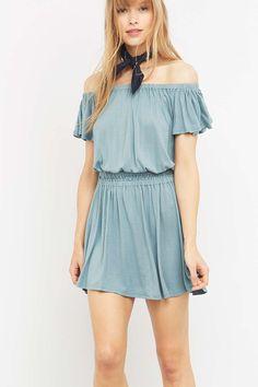 Pins & Needles Off-The-Shoulder Shirred Dress