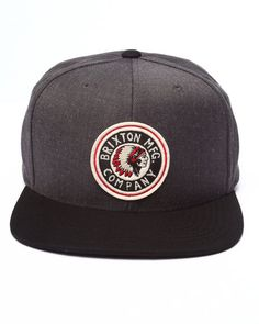 Charcoal grey body, Black brim. Brixton Rival snap One of my favorite hats that I own thanks to my gf