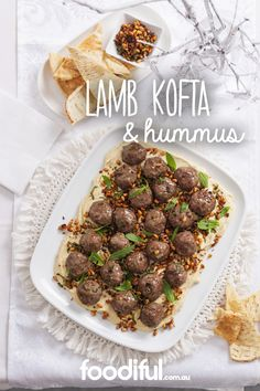 Using ready-made meatballs makes this mezze plate SO simple, yet so delicious. With cumin seeds, pine nuts and garlic, it is best when serves with pita bread. This recipe serves 8 and takes 40 minutes to make.