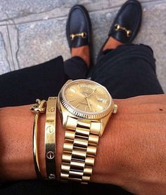 Gucci Loafers Cartier love bracelet Rolex watch Celine knot bracelet - Gucci Loafer - Ideas of Gucci Loafer - Gucci Loafers Cartier love bracelet Rolex watch Celine knot bracelet Audemars Piguet, Love Bracelets, Cartier Love Bracelet, Rolex Bracelet, Gucci Bracelet, Bracelet Charms, Mocassins Gucci, Gucci Loafers Mens, Luxury Watches