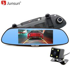 Junsun 6.5   Car Rear view mirror with DVR camera Dual Lens Video Recorder 2 Split View Registrator Auto dvrs recorder Dashcam -- AliExpress Affiliate's buyable pin. Click the image for detailed description on www.aliexpress.com