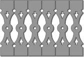 DURABRAC Decorative Vinyl Sawn Balusters, Vinyl Gingerbread Railing and vinyl Architectural Components