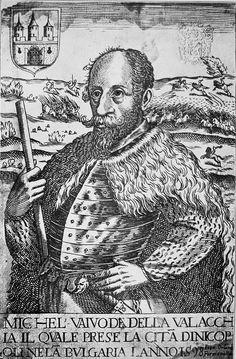 Michael the Brave at Nicopolis, engraving by Giovanni Orlandi, 1598 16th Century, Bulgaria, Romania, Brave, Medieval, Fictional Characters, Inspiration, Prince, Icons