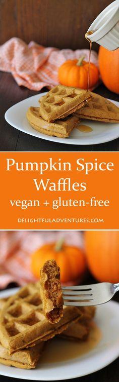 Vegan Gluten-Free Pumpkin Spice Waffles