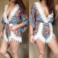 RESTOCKED!!•Lace detail beach romper 5 ⭐️ RATED!! It's time to hit the beach, and let's do it in style! April Spirit lace detail romper. Has a elastic waistband, and is 100% rayon. 🚫 trades. Price is FIRM! April Spirit Other