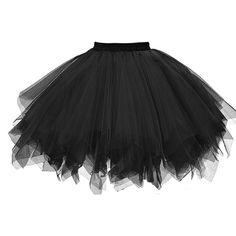 iYYVV Womens Pleated Gauze Colours Skirt Adult Tutu Dancing Skirt