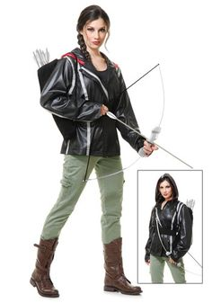 Wear this Archer Jacket and grab a bow and arrow set to become a famous heroine from your favorite book or movie! It's a cheap costume idea!