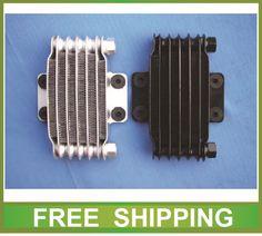 aluminium radiator oil cooler alloy 50cc to 250cc zongshen loncin lifan horizotal engine dirt pit bike motorcycle accessories