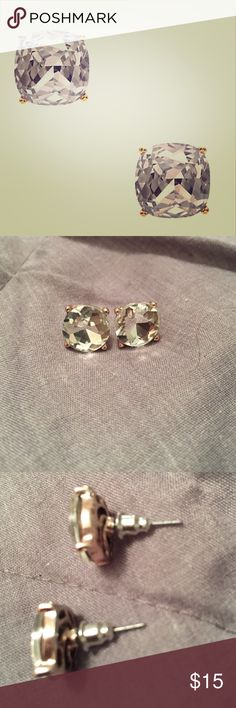 Kate Spade Small Square Studs! Never worn Kate Spade stud earrings, shiny gold filled posts kate spade Jewelry Earrings