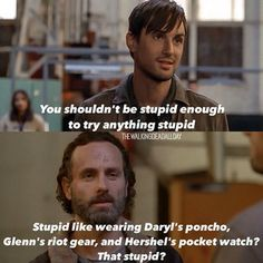 MTE, Rick, MTE. Let's not forget that orange backpack that bob was using that RICK actually picked up off the side of the road when him, Michonne and Carl were coming back from seeing Morgan! These people are fkn idiots.