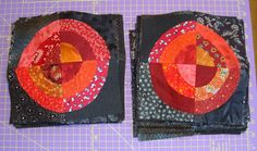 Doodle-head.com: Quilting: Red and Black Bullseye quilt