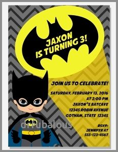 30 New Batman First Birthday Invitations