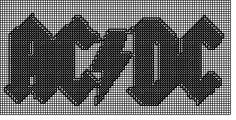 Plastic  Canvas ac/dc pattern