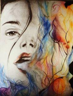 Woman.✍❤️ #drawing #draw #colors #pencils #myart