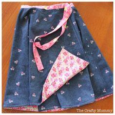 Reversible Wrap Skirt {via The Crafty Mummy}  #sewing #skirt