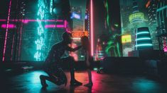 Cyberpunk art by David Legnon