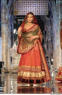 Red and Green Lehenga from Tarun Tahiliani bridal collection.  #TarunTahilianiBridalCollection #BridalCollection