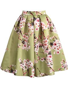 Shop Green Floral Pleated Skirt online. Sheinside offers Green Floral Pleated Skirt & more to fit your fashionable needs. Free Shipping Worldwide!, $22.17