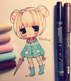 random chibi (*≧▽≦) i can't wait for my copic sketch set to arrive /wheeze (◎ー◎)