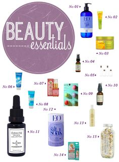 I can't live without these healthy organic and natural Beauty Essentials.