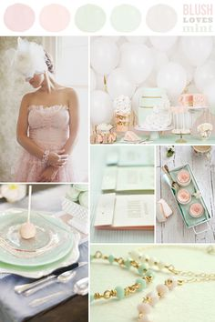 Blush loves Mint from Hey Look - Event styling, design inspiration, DIY ideas and more