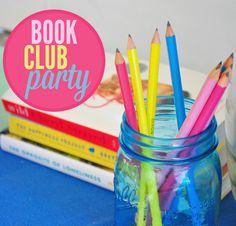 "Host a Back to School Book Club Party with these ideas. There's a recipe for a tasty vegetarian buffalo ""chik"" dip!"