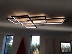 Trio ceiling Led lighting. Cinier. Fr: Plafonnier minimaliste Art Deco. Led. Fabriqué en France.