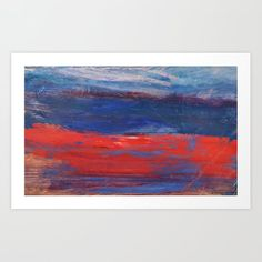 Abstract Red Beach Art Print by dimitrapapageorgiou Red Beach, Beach Print, From The Ground Up, Buy Frames, Unique Art, Printing Process, Waiting, Gallery Wall, Smooth