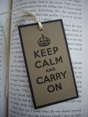 keep calm and carry on bookmark, kraft  #thecraftstar