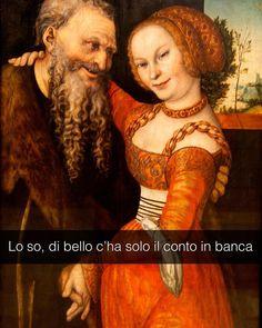 An ill-matched pair - Lucas Cranach il vecchio (1530)  #seiquadripotesseroparlare  #stefanoguerrera