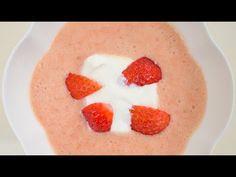 Hideg eperkrémleves (főzés nélkül) - Az én alapszakácskönyvem - YouTube Cheesecake, Pudding, Desserts, Food, Youtube, Cheesecake Cake, Flan, Postres, Puddings