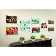 This floating acrylic wall frame gallery is ideal for hallways in office buildings, or corridors in homes.