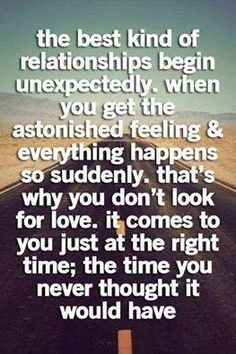 The best kind of relationships begin unexpectedly..