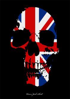 Image detail for -Union Jack Skull