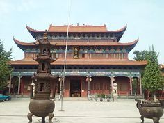Buddhist Temple in Jingzhou, China China Trip, China Travel, Beijing, Shanghai, The Bund, Temple Design, Buddhist Temple, Temples, Scenery