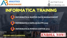 Need #Informatica Training Grab The Best Opportunity With Analytics Benchmark Training Institute.  Website: www.abtrainings.com Quick Enroll: https://bit.ly/2Kwv6vO